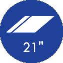 21 Polegadas
